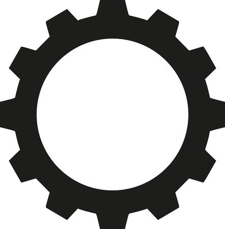 gear wheel: Gear wheel icon Illustration