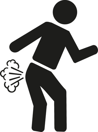 farting: Farting pictogram