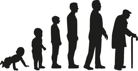 라이프 사이클 진화 - 아기에서 노인으로