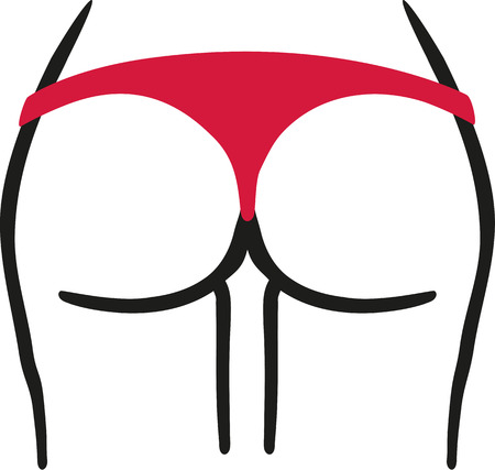 Sexy woman booty ass Illustration