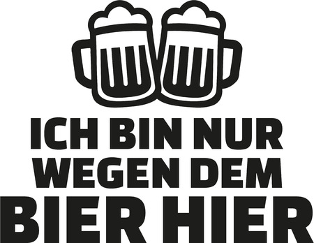 came: I just came for the beer. German drinking saying.