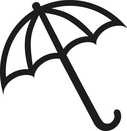 Umbrella outline Ilustração