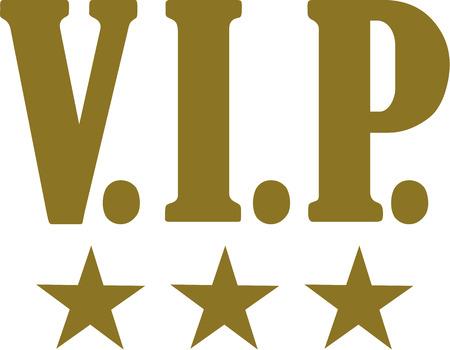 premium member: Golden VIP with golden stars Illustration