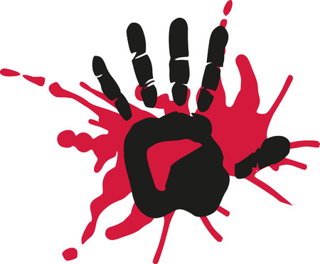 Handprint with blood