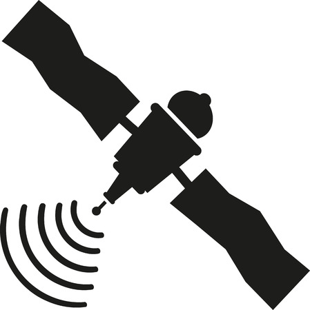 wireless connection: Satellite icon with wireless connection