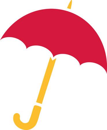 Red umbrella icon Ilustração