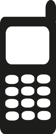 cellphone: Telephone cellphone icon