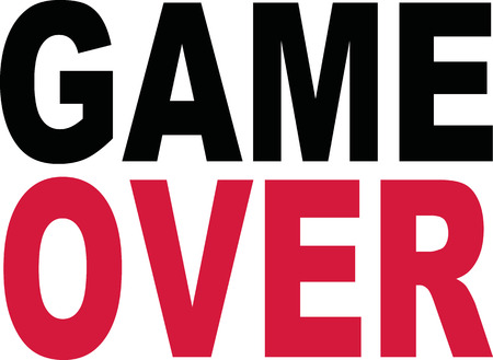 the game is over: Game over slogan Illustration