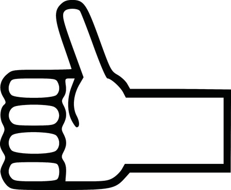 Hand icon with thumb up