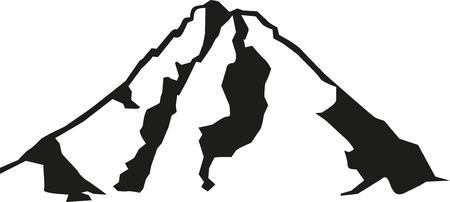 グロースグロックナー山のシルエット