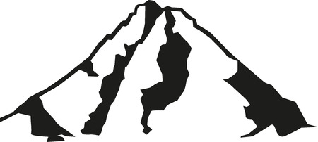 Grossglockner mountain silhouette