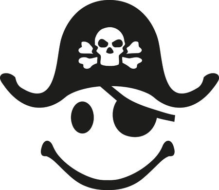 Pirate smiley face Illusztráció