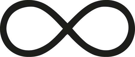 infinity sign: Thin infinity sign Illustration