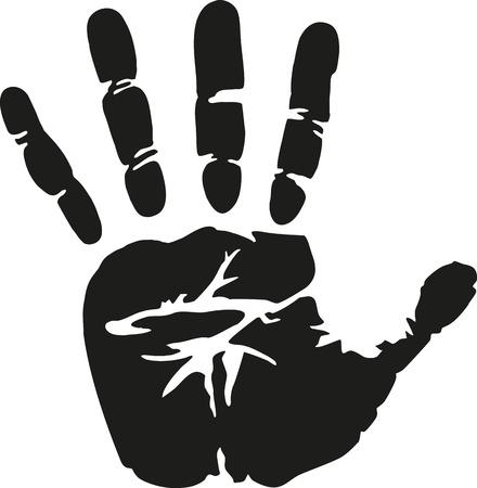 Handprint reale Vettoriali