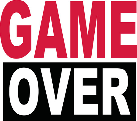the game is over: Game over text icon