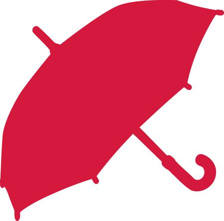Umbrella silhouette Ilustração