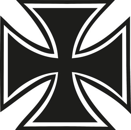 윤곽이있는 철 십자가