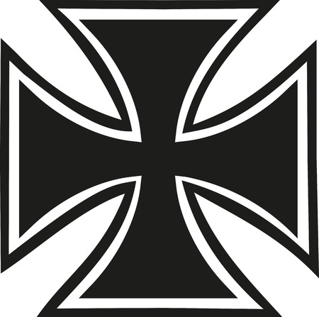 Iron cross with contour