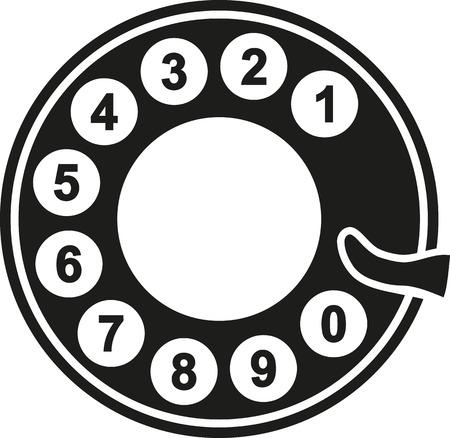 回転式電話ダイヤル