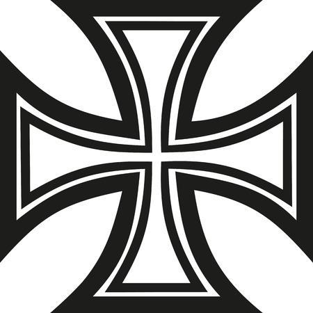 iron: Iron cross outline