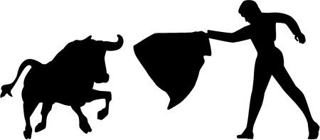 torero: Bullfight torero silhouette Illustration