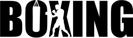 Boxe avec le boxeur silhouette