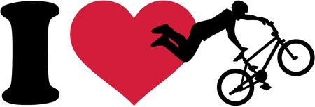 I love bmx ride silhouette