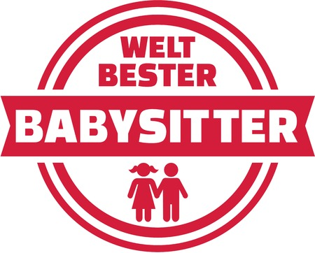 sitter: German worlds best Babysitter button