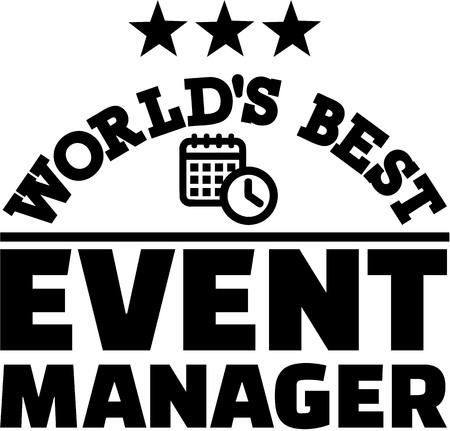 job deadline: Worlds best Event manager Illustration