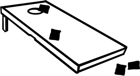 Cornhole game with bags Illustration