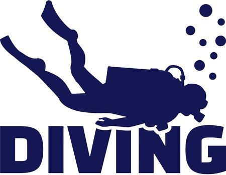 Scuba duiker Stock Illustratie