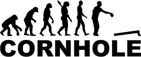 Evolution Cornhole Vettoriali