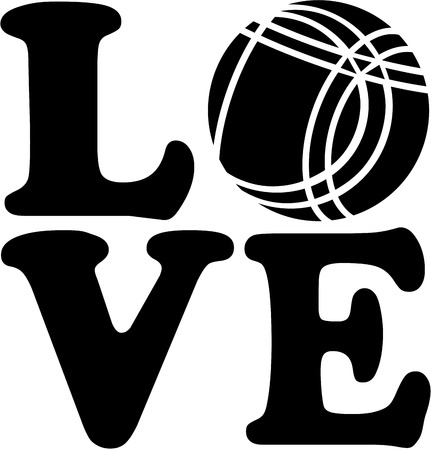 bocce: Love with Bocce Ball Illustration