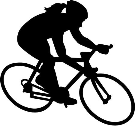 Femmina bici Ciclista bicicletta Archivio Fotografico - 67600967