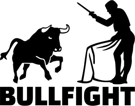 Torero con toro da combattimento