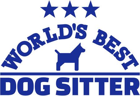 sitter: Worlds best dog sitter Illustration