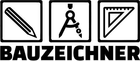 Tekenaar apparatuur met Duitse JobTitle
