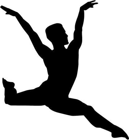 male ballet dancer: Male ballet dancer Illustration