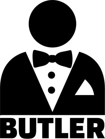 Butler pictogram Illusztráció