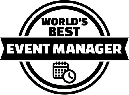 manager: Worlds best event manager Illustration
