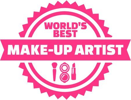 make up artist: Worlds best Make up artist button Illustration