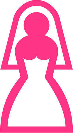 party girl: Pink bride pictogram Illustration