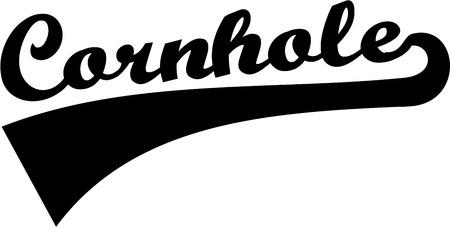 Cornhole retro font