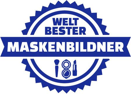 make up artist: Worlds best Make up artist. German button.