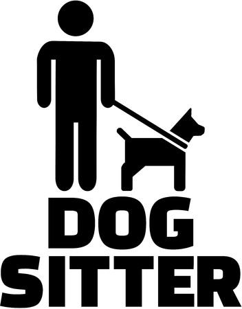 sitter: Dog sitter icon Illustration