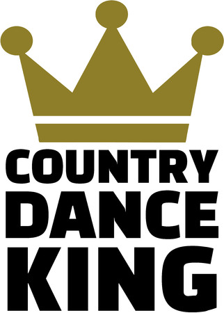 Country dance king Illustration