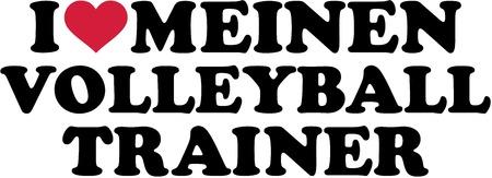 I love my Volleyball Coach. German. Çizim