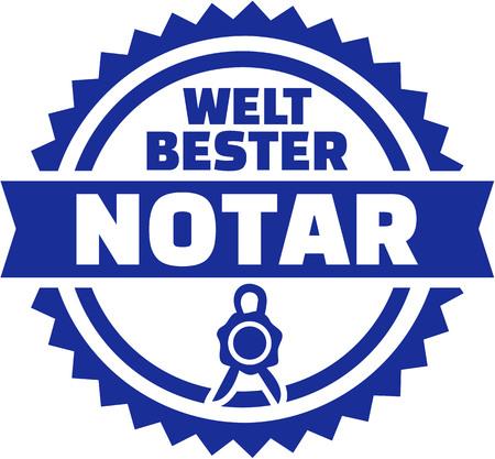 Worlds best notary german button