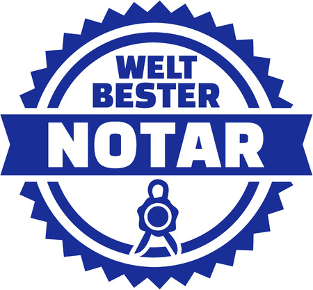 notary: Worlds best notary german button