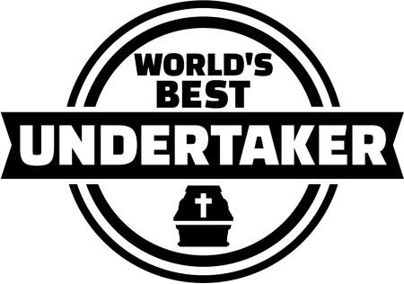 Worlds best undertaker button